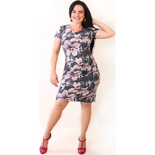 5d8e9776205bbb Sukienka maskująca niedoskonałości DALIA Oscar Fashion w Domodi