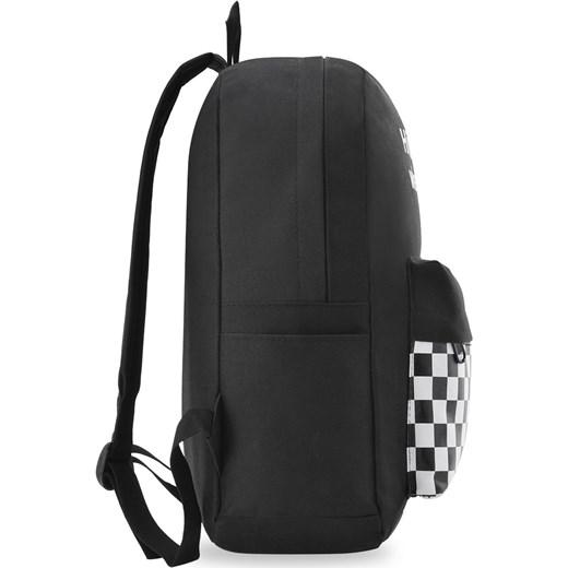 5524e4fe86e16 Młodzieżowy plecak szkolny sportowy print szachownica - czarny world -style.pl
