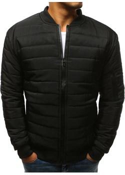 Kurtka męska pikowana bomber jacket czarna (tx2213)  Dstreet  - kod rabatowy