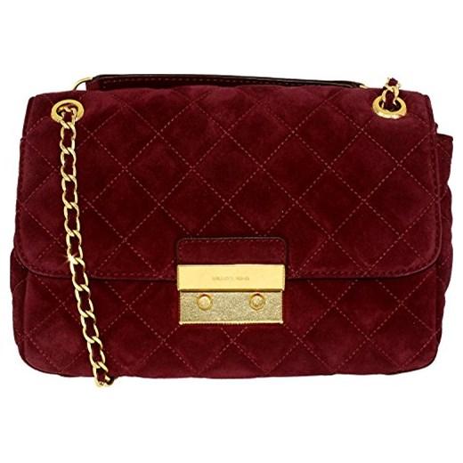 b538ffa24aa8f Michael Kors Sloan Quilted Suede Fabric Women s Large Shoulder Bag - jeden  rozmiar śliwka Michael Kors