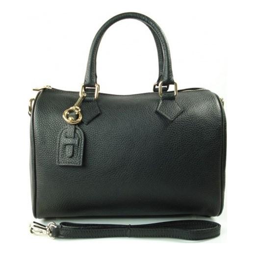 f2f6082860750 VERA PELLE Elegancka włoska torebka damska kuferek w kolorze czarnym skóra  naturalna KVP17N włoskie torebki WYPRZEDAŻ ...