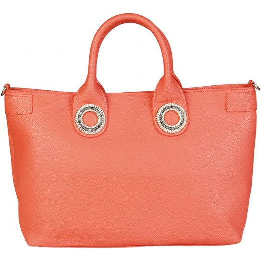 d5df58312749e VERSACE JEANS Klasyczna torebka damska shopper z uchwytem pomarańczowa  E1VPBBN6 75613 Versace Jeans okazyjna cena rinkopl ...