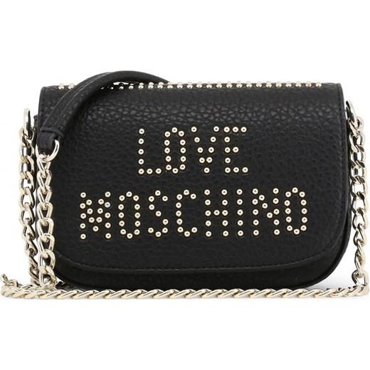 d3896dddbf1e7 LOVE MOSCHINO Mała torebka z ćwiekami modna listonoszka czarna JC4066PP16LS  Love Moschino okazyjna cena rinkopl ...