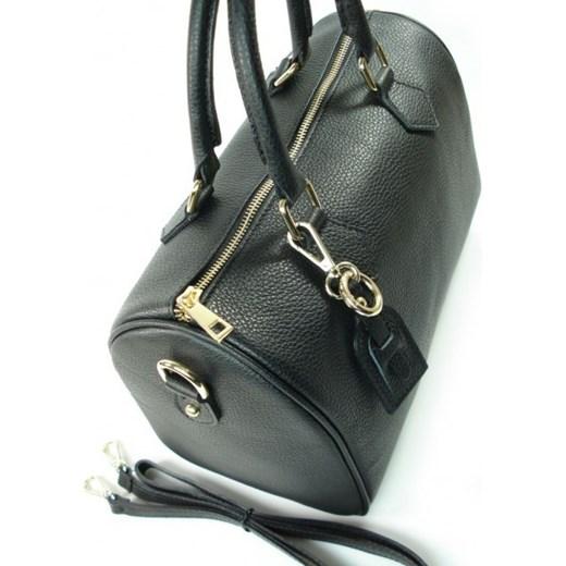 be4b1ab4a32ed ... VERA PELLE Elegancka włoska torebka damska kuferek w kolorze czarnym  skóra naturalna KVP17N włoskie torebki WYPRZEDAŻ ...
