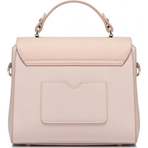 851e81a38f3b6 ... NUCELLE Pastelowa torebka damska listonoszka kuferek z modnym  zdobieniem różowa skóra ekologiczna 1171332-04 Nucelle ...