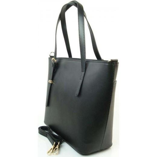 aaaa520a8e71d ... VERA PELLE Klasyczna duża torebka włoska shopper czarna skóra naturalna  GL35N Włokie torebki WYPRZEDAŻ Vera Pelle ...