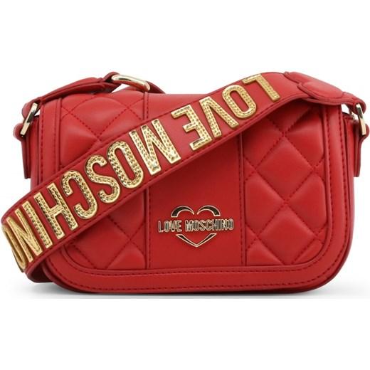 8e9f2552b53e9 LOVE MOSCHINO Mała pikowana torebka damska listonoszka z modnym paskiem  czerwona JC4019PP16LC Love Moschino promocyjna cena ...