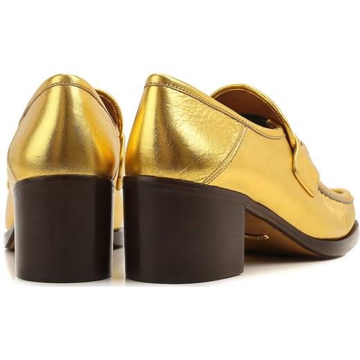 8caa0199335bf ... Gucci Mokasyny dla Kobiet Na Wyprzedaży, Złoty, Skóra, 2017, 36.5 37  37.5 ...