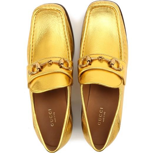 99b0db7ec1b53 ... Gucci Mokasyny dla Kobiet Na Wyprzedaży, Złoty, Skóra, 2017, 36.5 37  37.5