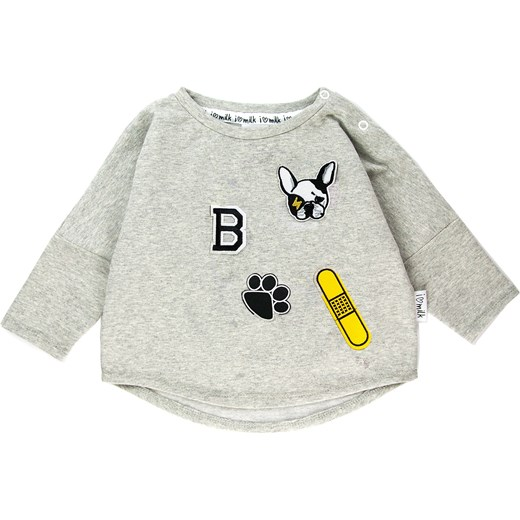 BLUZA DOG PATCHES zielony  i love milk