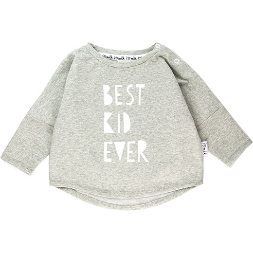 "BLUZA ""BEST KID EVER""  zielony i love milk"