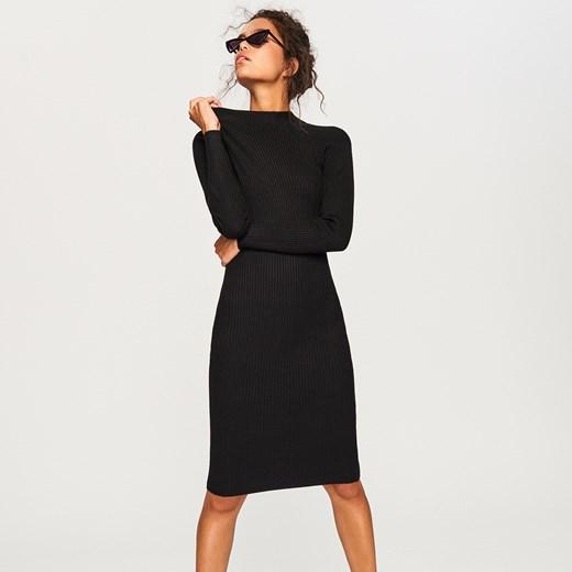 bb591ef315fca3 Reserved - Dzianinowa sukienka Wielobarwn czarny w Domodi