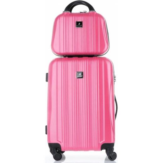 3747d344c6a9e Solidna Walizka z Kuferkiem renomowanej firmy Madisson Różowa (kolory) Madisson  okazja PaniTorbalska ...