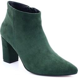 e303f519 Zielone buty damskie na słupku zamek, jesień 2018 w Domodi