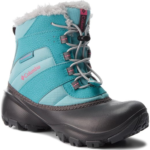 Śniegowce COLUMBIA - Youth Rope Tow III Waterproof BY1323 Camellia/Rose 341  Columbia 34 eobuwie.pl