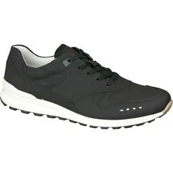 2a5126ad Buty sportowe męskie Ecco czarne skórzane wiązane młodzieżowe