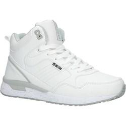 b255444f6fbbe6 Buty sportowe damskie Big Star białe bez wzorów na płaskiej podeszwie