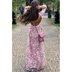 c94795d82b Sukienka Chi Chi London z długim rękawem maxi na co dzień prosta