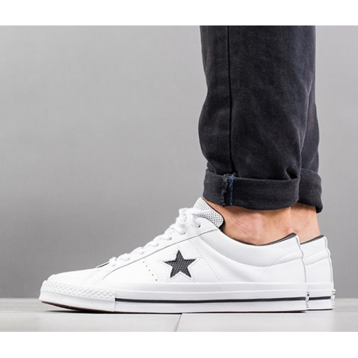 083d09d42b61 Buty męskie sneakersy Converse One Star Perforated Leather 158464C  sneakerstudio.pl