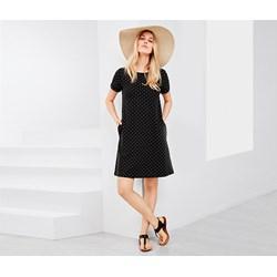 0a13cf871e Sukienka Tchibo midi czarna na co dzień bez wzorów trapezowa