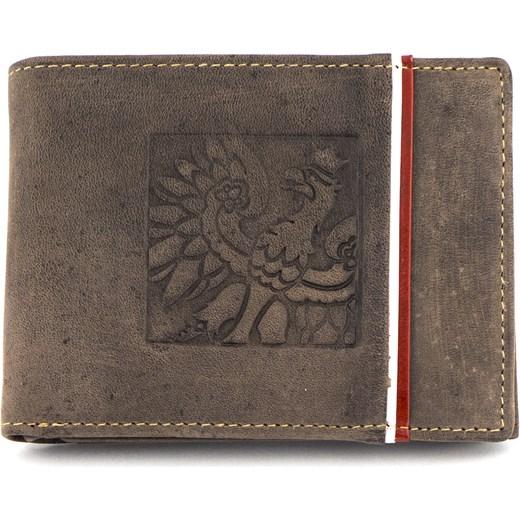 fdea86b1337ca Brązowy męski portfel skórzany Peterson 304.02-2-4-4 szary Galmark w ...