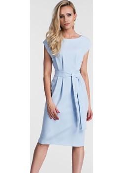 Sukienka ARLETA Midi Pastelowy Niebieski  Livia Clue  - kod rabatowy