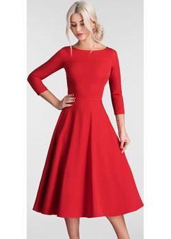 Sukienka KLARA 3/4 Total Midi Czerwień Livia Clue   - kod rabatowy