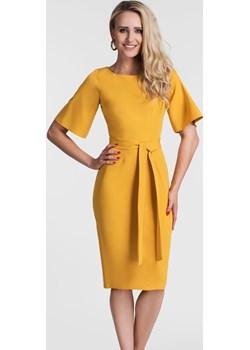 Sukienka MAJA Midi Miodowy Livia Clue   - kod rabatowy
