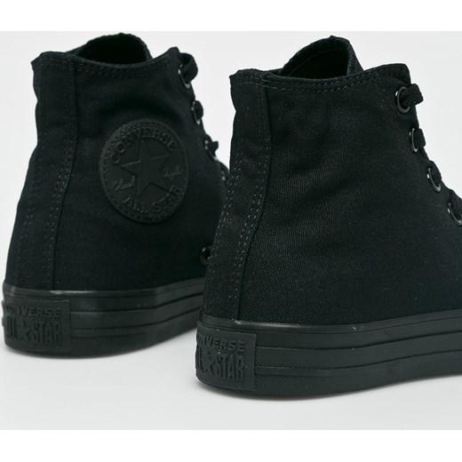 Trampki damskie Converse czarne sznurowane bez wzorów