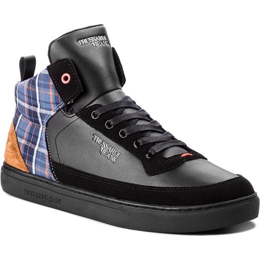 1bad0322 Buty sportowe męskie Trussardi Jeans zamszowe sznurowane w Domodi
