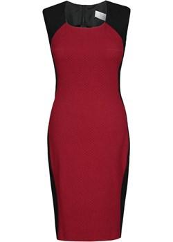 Sukienka FSU448 CZARNY BORDOWY fokus-fashion czerwony lato - kod rabatowy
