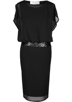 Sukienka FSU486 CZARNY fokus-fashion czarny lato - kod rabatowy