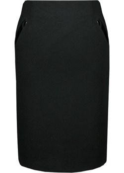 Spódnica FSP337 CZARNY fokus-fashion czarny lato - kod rabatowy