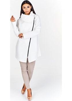 Kurtka FKU751 EKRI fokus-fashion bezowy asymetryczne - kod rabatowy