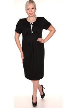 Sukienka FSU237 CZARNY fokus-fashion czarny lato - kod rabatowy
