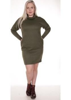 Sukienka FSU889 OLIWKOWY  Fokus fokusfashion.com - kod rabatowy