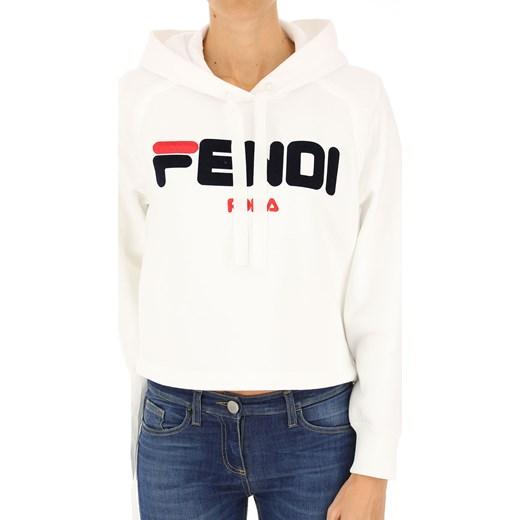6acdf1eaa059f Bluza damska Fendi biała na zimę bawełniana w Domodi