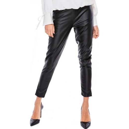 Spodnie damskie czarne Ooh La La ze skóry ekologicznej