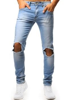 Spodnie jeansowe męskie niebieskie (ux1351)  Dstreet  - kod rabatowy