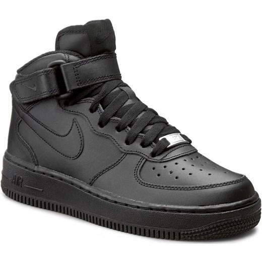 new concept aa49e dfec6 Buty sportowe damskie Nike air force czarne z tworzywa sztucznego bez wzorów
