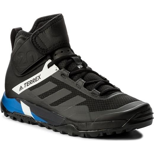 Czarne buty sportowe męskie Adidas terrex sznurowane z tworzywa sztucznego