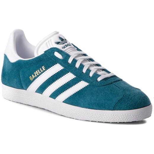 super popular 74431 f590c Trampki damskie Adidas gazelle turkusowe na płaskiej podeszwie zamszowe  sportowe sznurowane