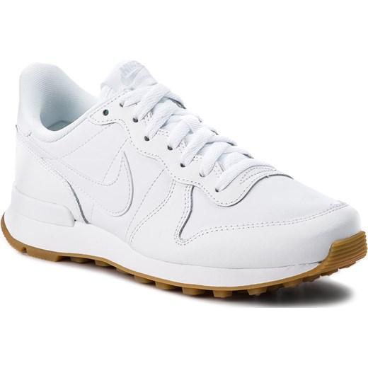 bec54e517eb5 Nike buty sportowe damskie białe ze skóry ekologicznej na płaskiej podeszwie