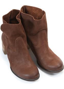 botki - skóra naturalna - model 454 - kolor brązowy przecierka Zapato  zapato.com.pl - kod rabatowy