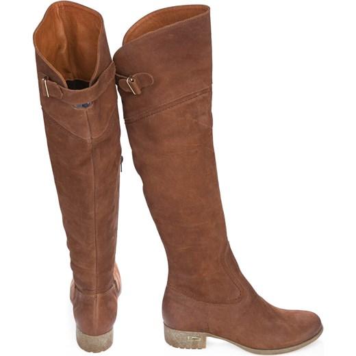 b5036140030d ... kozaki za kolano - skóra naturalna - model 128 - kolor brązowy  przecierka Zapato 37 zapato  Kozaki damskie Zapato zimowe skórzane ...
