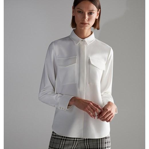 Nowość Koszula damska Reserved elegancka biała w Domodi ZD19