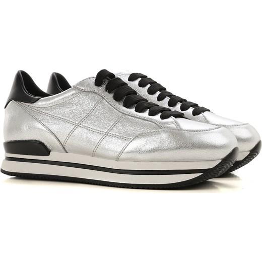 872c19c8bf6298 Hogan buty sportowe damskie wiązane bez wzorów na płaskiej podeszwie ze  skóry w Domodi