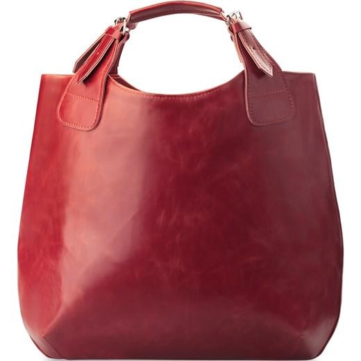 3f092f4ee494c Modna, bardzo pojemna torebka damska czerwona Brązowy world-style.pl  promocyjna cena ...
