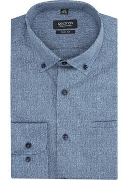 koszula versone 2830 długi rękaw slim fit niebieski  Recman  - kod rabatowy
