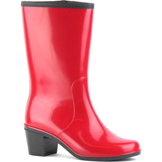 678e61fb3441ed Nordman kalosze damskie czerwone z gumy w Domodi
